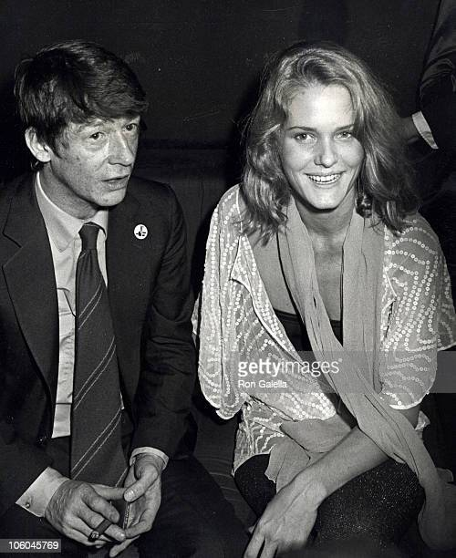 John Hurt and Arnella Flynn during Premiere Party for The Elephant Man at Magique in New York City New York United States