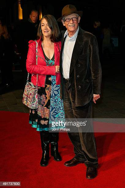 John Hurt and his wife attend the Suffragette Premiere during the Opening Night Gala during the BFI London Film Festival at Leicester Square on...