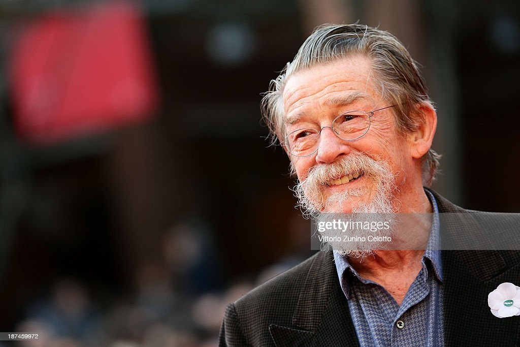 John Hurt On The Red Carpet - The 8th Rome Film Festival : News Photo