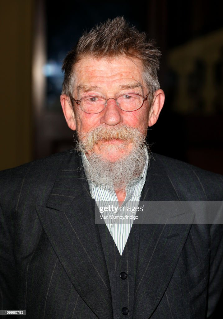 John Hurt attends a Dramatic Arts reception hosted by Queen Elizabeth II at Buckingham Palace on February 17, 2014 in London, England.