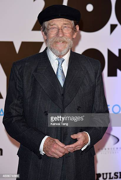"""John Hurt attends the """"20,000 Days on Earth"""" screening at Barbican Centre on September 17, 2014 in London, England."""