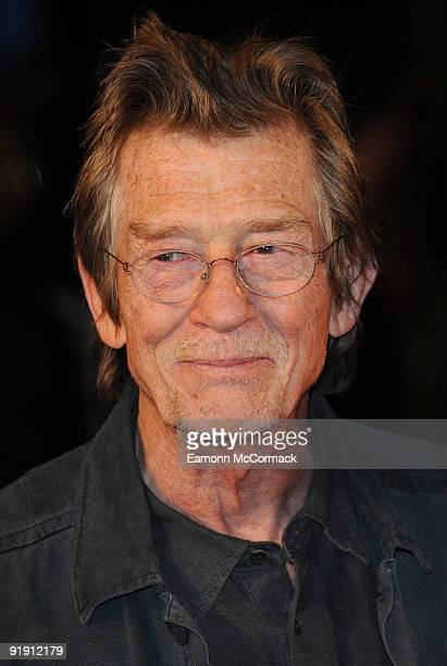 John Hurt attends the Gala Screening of 'Men Who Stare At Goats' during The Times BFI London Film Festival at Odeon Leicester Square on October 15,...