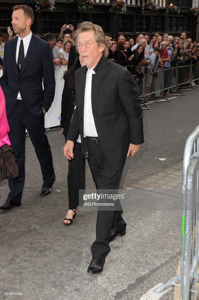 John Hurt attends the Philips British Academy Television awards (BAFTA) at London Palladium on June 6, 2010 in London, England.