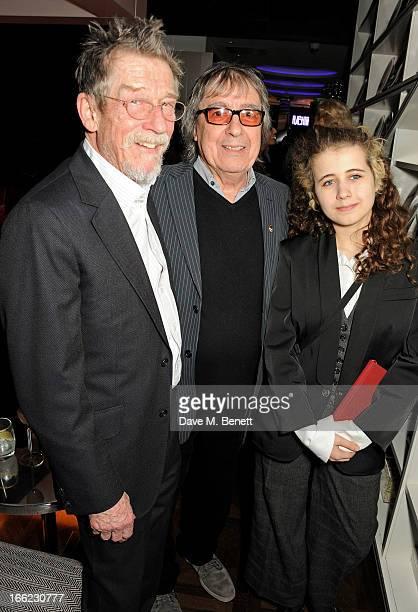 John Hurt Bill Wyman and Jessica Wyman attend the Liberatum Cultural Honour for actor John Hurt in association with artist Svetlana KLie at W London...