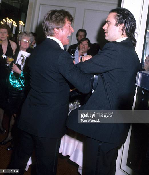 John Hurt during John Hurt in Drunken Fracas with photographers at The BAFTA Awards April 9 1989 in London Great Britain