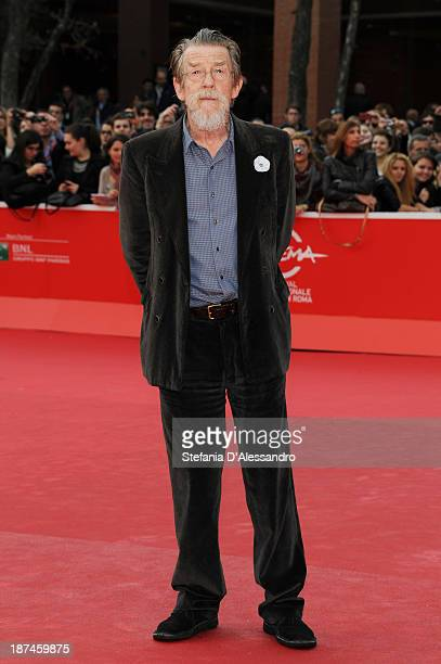 John Hurt On The Red Carpet during The 8th Rome Film Festival at Auditorium Parco Della Musica on November 9 2013 in Rome Italy