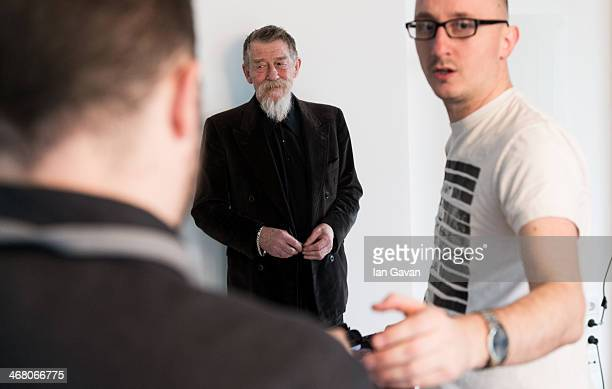 John Hurt poses during a portrait session for Contour Photographer Francois Berthier during the 64th Berlinale International Film Festival on...