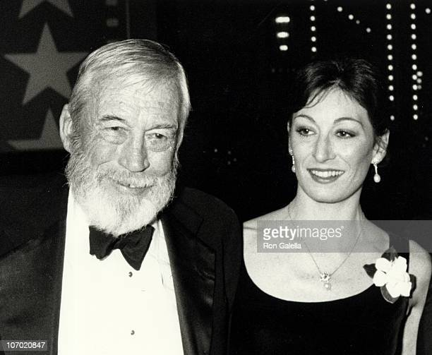 John Huston and Anjelica Huston during American Film Institute Gala Tribute to John Huston at Beverly Hilton Hotel in Beverly Hills CA United States