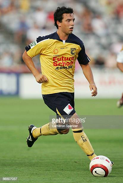 John Hutchinson of the Mariners in action during the round 16 A-League match between the Central Coast Mariners and the Newcastle Jets at Central...