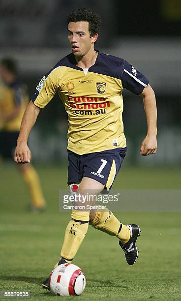 John Hutchinson of the Mariners in action during the round six ALeague match between the Central Coast Mariners and Melbourne Victory at Central...
