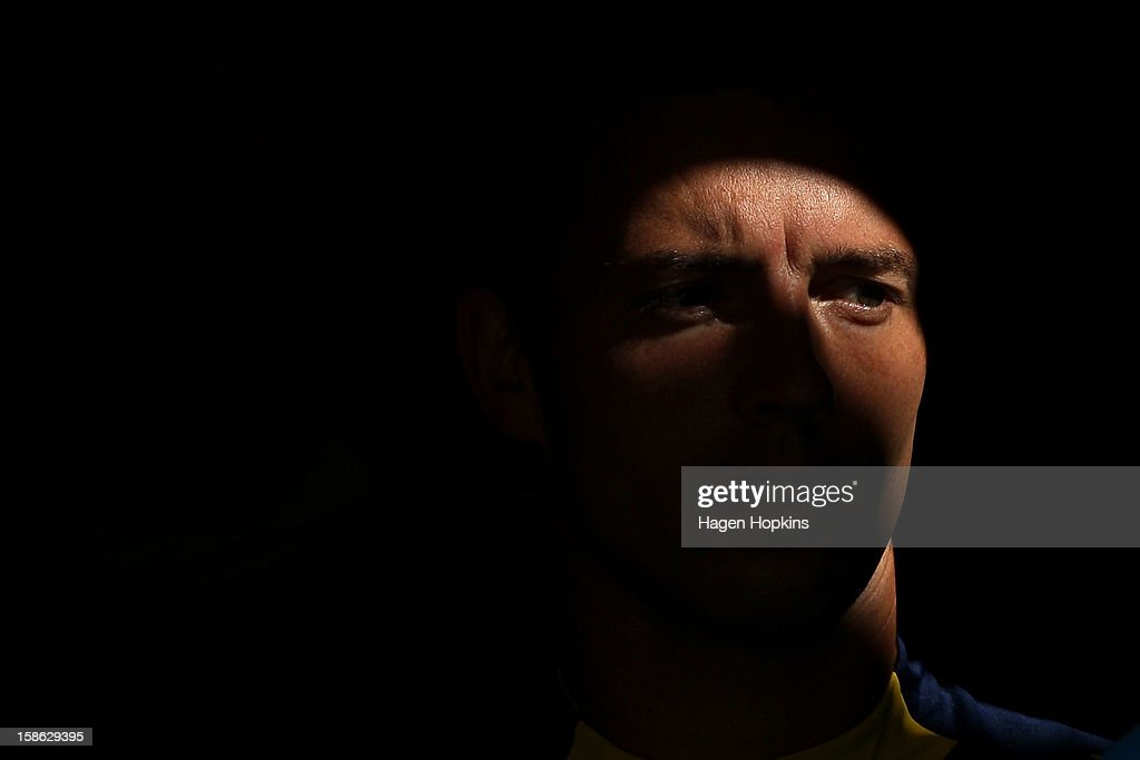 John Hutchinson of the Mariners looks on before kick-off during the round 12 A-League match between the Wellington Phoenix and the Central Coast Mariners at Westpac Stadium on December 22, 2012 in Wellington, New Zealand.