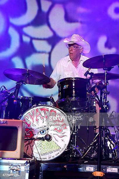 John Ike Walton one of the four surviving original members of the 13th Floor Elevators performs with the group for the first time in 45 years during...
