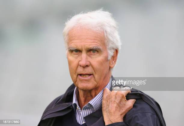 John Inverarity Australian Chairman of Selectors looks on during day three of the Sheffield Shield match between the Victoria Bushrangers and the New...