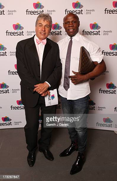 John Inverdale and Chris Eubank attend The Freesat Awards at One Mayfair on July 10 2013 in London England