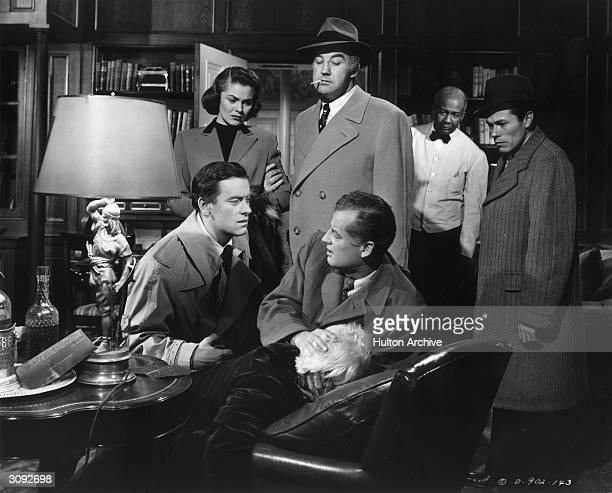John Ireland Joanne Dru Broderick Crawford and Shepperd Strudwick star in the political drama 'All The King's Men' based on the life of Louisiana...