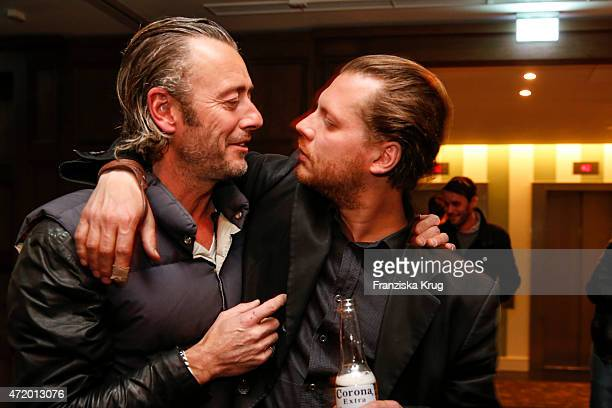John Isaacs and Andreas Golder attend the Artist Weekend Berlin and Soho House party with Bombay Sapphire on May 02 2015 in Berlin Germany