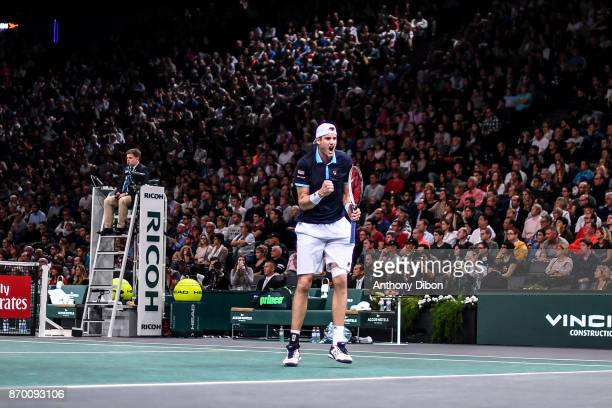 John Isner during the Day 6 of the Rolex Paris Masters at AccorHotels Arena on November 4 2017 in Paris France