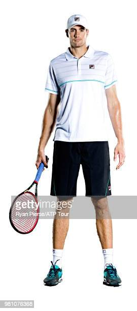 John Isner of the United States poses for portraits during the Australian Open at Melbourne Park on January 13 2018 in Melbourne Australia