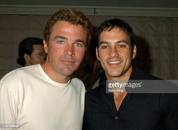 John J York Tyler Christopher during ABC's 'General Hospital' Fan Day Event at Sportsmen's Lodge in Studio City California United States