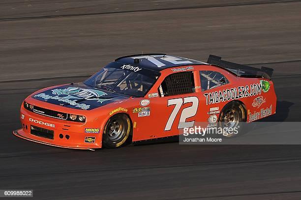 John Jackson driver of the Crash Claimes R Us Chevrolet on track during practice for the NASCAR XFINITY Series VysitMyrtleBeachcom 300 at Kentucky...