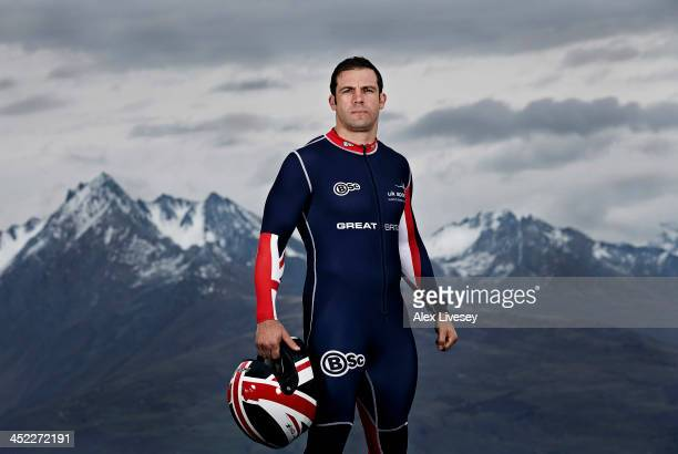 John Jackson the pilot of the Great Britain GBR1 bobsleigh team poses for a portrait shoot as he prepares for the Winter Olympics in Sochi Russia...