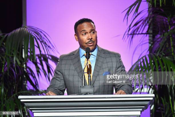 John Jackson Vice President strategy planning engineering innovation customer identity at FedEx Corporation speaks onstage at the 49th NAACP Image...