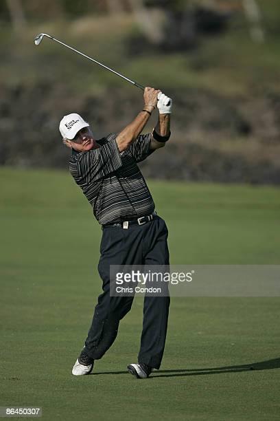 John Jacobs hits an approach on during the Thursday ProAm at the 2006 Mastercard Championship at Hualalai resort Kona Hawaii