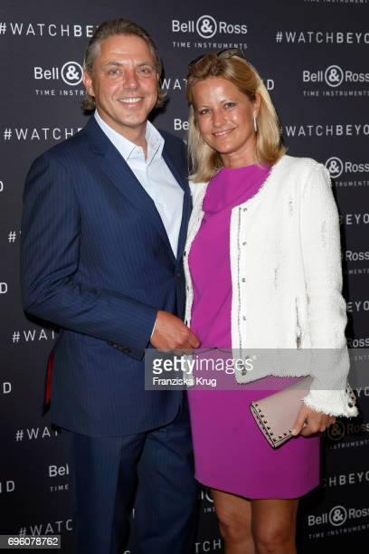 John Jahr jr and his wife Maike Jahr attend the Bell Ross Cocktail Party at Elbphilharmonie show apartment on June 14 2017 in Hamburg Germany