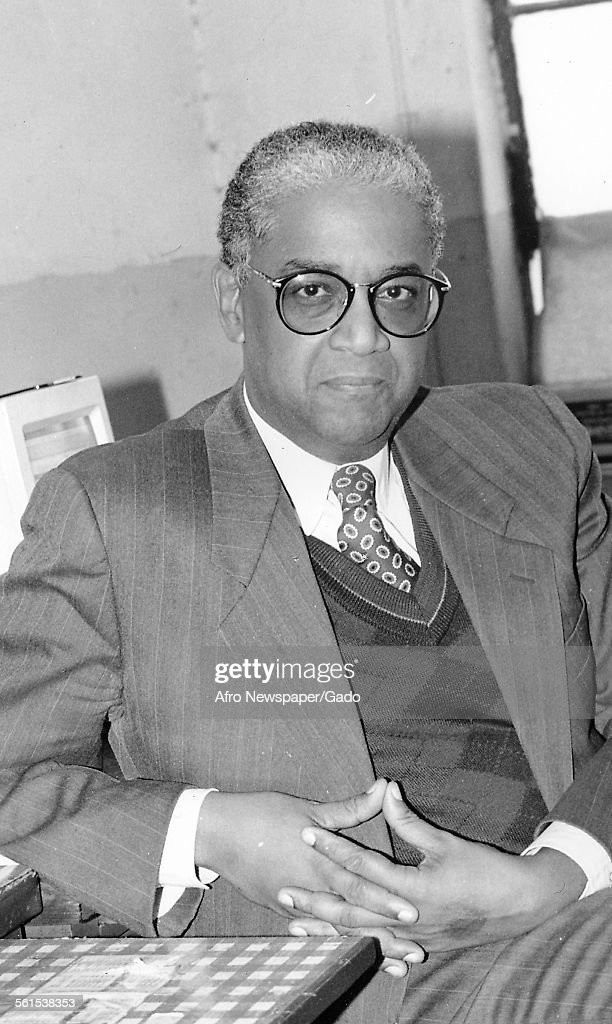 John Jake Oliver publisher of the Afro American newspaper and owner, Baltimore, Maryland, 1961.