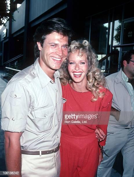 John James and Marsha Wolf during John James and Marsha Wolf Sighting in Beverly Hills July 1 1983 at Beverly Hills California in Beverly Hills...