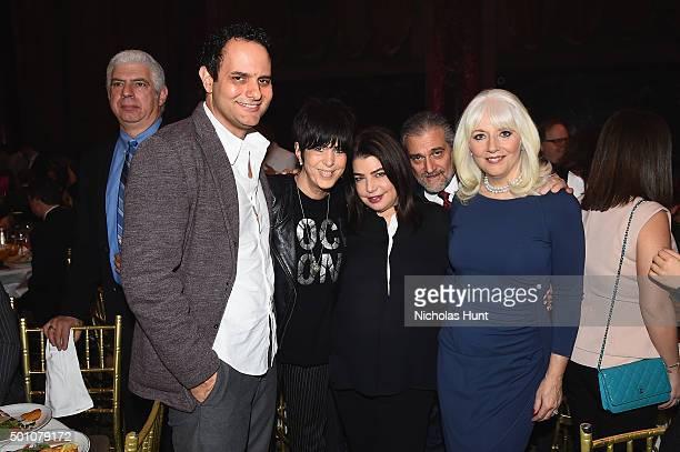 John Jancik Diane Warren Michele Anthony Joe Germanotta and Cynthia Germanotta attend the Billboard Women in Music Luncheon on December 11 2015 in...