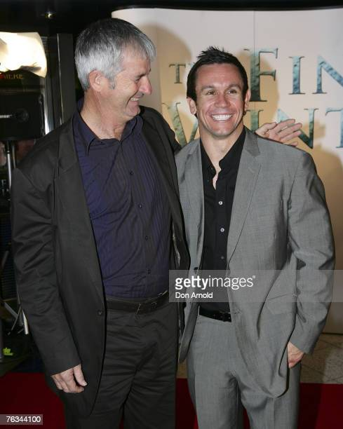 John Jarratt and Mathew Johns attend 'The Final Winter' premiere at the Greater Union George Street Cinema on August 27 2007 in Sydney Australia