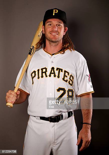 John Jaso of the Pittsburgh Pirates poses for a portrait on February 25 2016 at Pirate City in Bradenton Florida