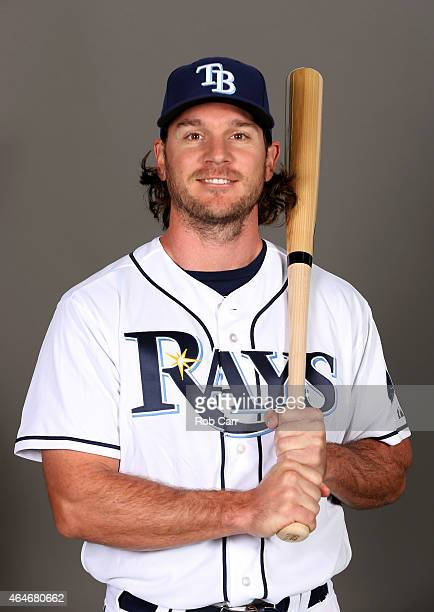 John Jaso of the Tampa Bay Rays poses for a photo on photo day at Charlotte Sports Park on February 27 2015 in Port Charlotte Florida