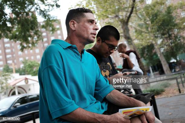 John Jay College of Criminal Justice student Jonathan Rupay interviews a heroin user as part of a project to interview Bronx drug users in order to...