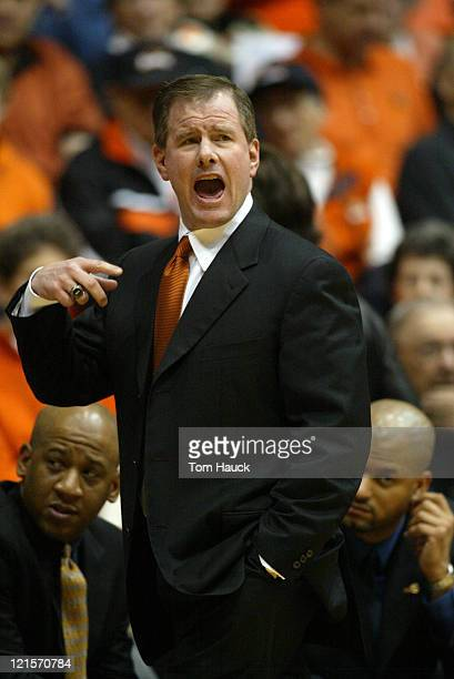 John Jay Head Coach of the Oregon State Beavers argues a call with the officialsThe Stanford Cardinal defeat the Oregon State Beavers 6248 at Gill...