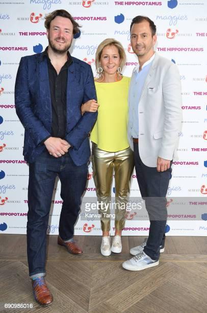 John Jencks Martha Lane Fox and Chris Gorell Barnes attend the UK gala screening of The Hippopotamus at The Mayfair Hotel on May 31 2017 in London...