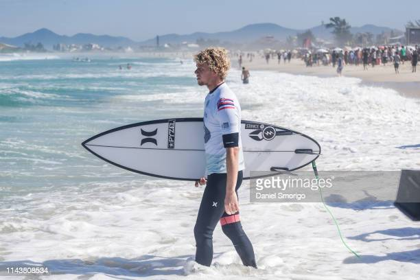 John John Florence from Hawaii finished his campaign in 9th after placing third in Heat 4 of Round 4 at the Oi Rio Pro in Saquarema, Rio de Janeiro,...