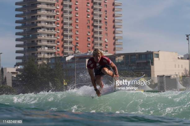 John John Florence of Hawaii competing in the 2015 Oi Rio Pro in Rio de Janeiro, Brazil.