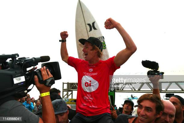 John John Florence of Hawaii competing in the 2016 Oi Rio Pro in Rio de Janeiro, Brazil in which he won by defeating Jack Freestone of Australia in...