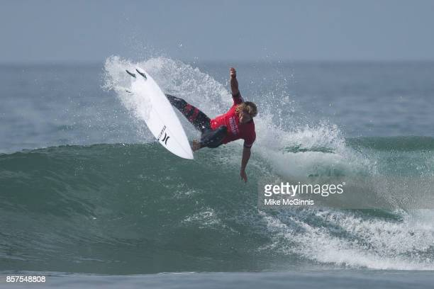John John Florence surfing during the Hurley Pro at Trestles on September 13, 2017 in San Clemente, California.