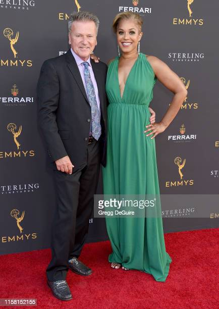John Johnston and Danielle Nottingham arrive at the 71st Los Angeles Area Emmy Awards at Television Academy's Wolf Theatre at the Saban Media Center...