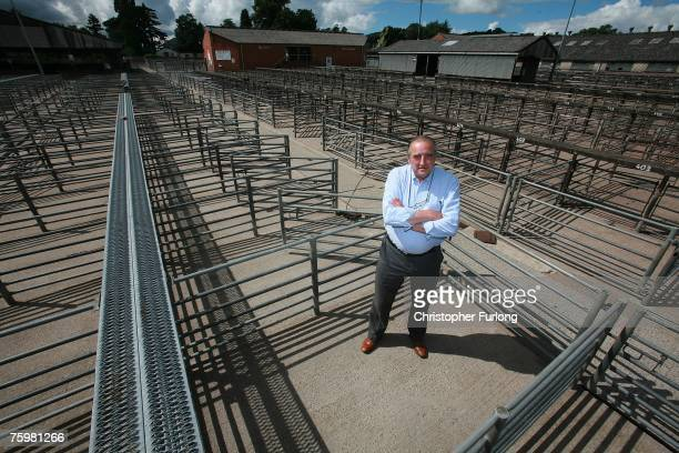 John Jones of Welshpool Livestock Auction stands amidst empty pens in the wake of the Foot and Mouth disease outbreak in Surrey, August 6, 2007 in...