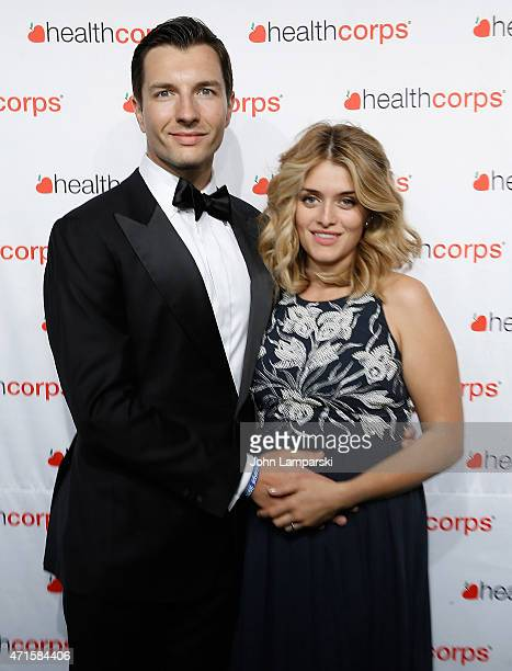 John Jovanovic and Daphne Oz attend 9th Annual HealthCorps' Gala at Cipriani Wall Street on April 29 2015 in New York City