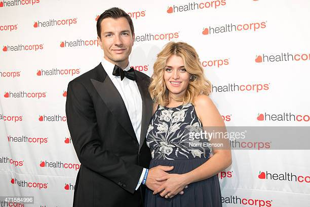 John Jovanovic and Daphne Oz attend the 9th Annual HealthCorps' Gala at Cipriani Wall Street on April 29 2015 in New York City