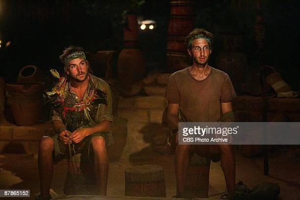 John 'JT' Thomas Jr and Stephen Fishbach during the final tribal council during the finale episode of SURVIVOR TOCANTINS THE BRAZILIAN HIGHLANDS...