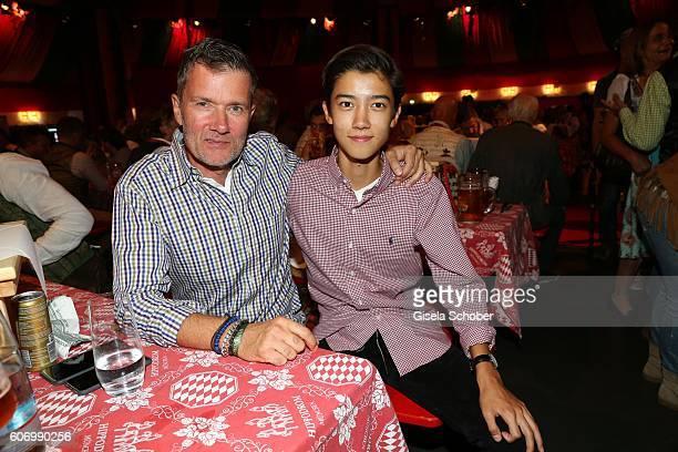 John Juergens DJ John Munich and his son Dennis Juergens during the Birgitt Wolff's PreWiesn party ahead of the Oktoberfest at Hippodrom in...