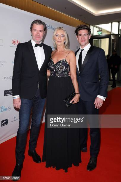John Juergens Philipp Danne and Kirsten Kuhnert attend the charity event Dolphin's Night at InterContinental Hotel on November 25 2017 in Duesseldorf...