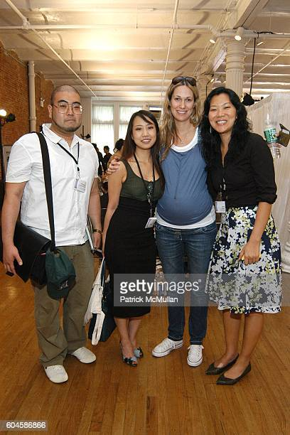 John K Leah Park Shannon Pincham and Sooji Kim attend Connections by Le Book at Puck Building on June 28 2006 in New York City