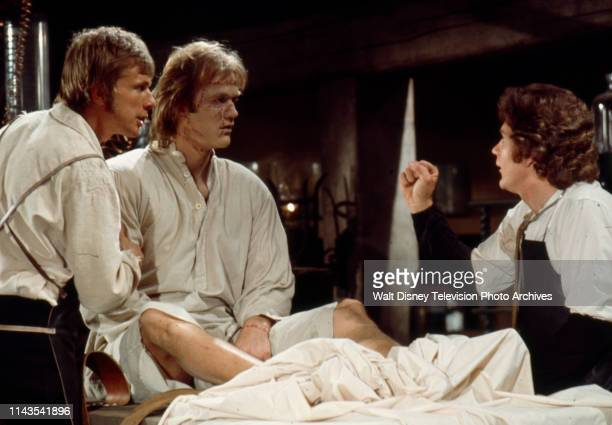 John Karlen Bo Svenson as the Frankenstein Monster Robert Foxworth as Doctor Frankenstein appearing in the Walt Disney Television via Getty Images tv...
